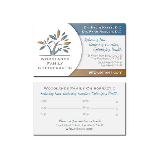 Woodlands Family Chiropractic // Business Cards
