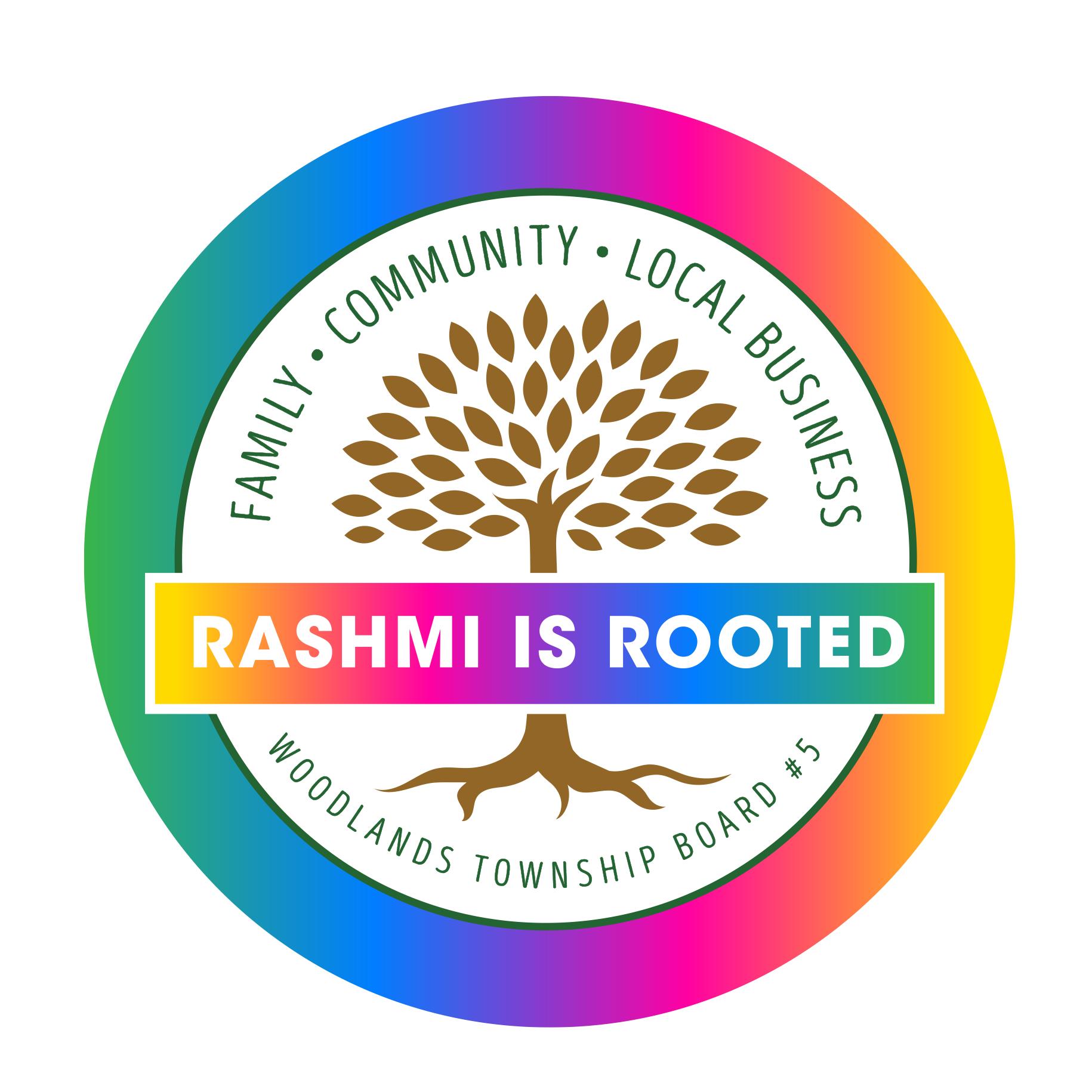 Rashmi is Rooted Pride Logo