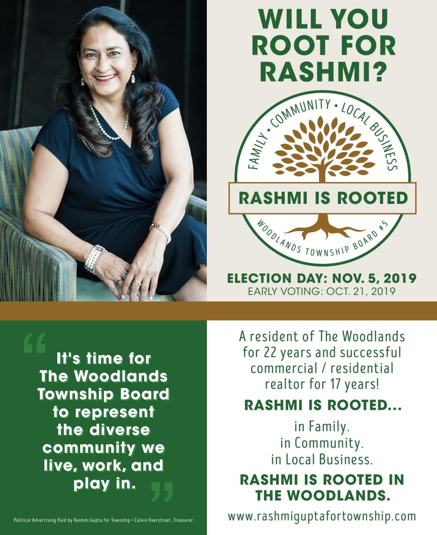 Rashmi is Rooted Magazine Ad